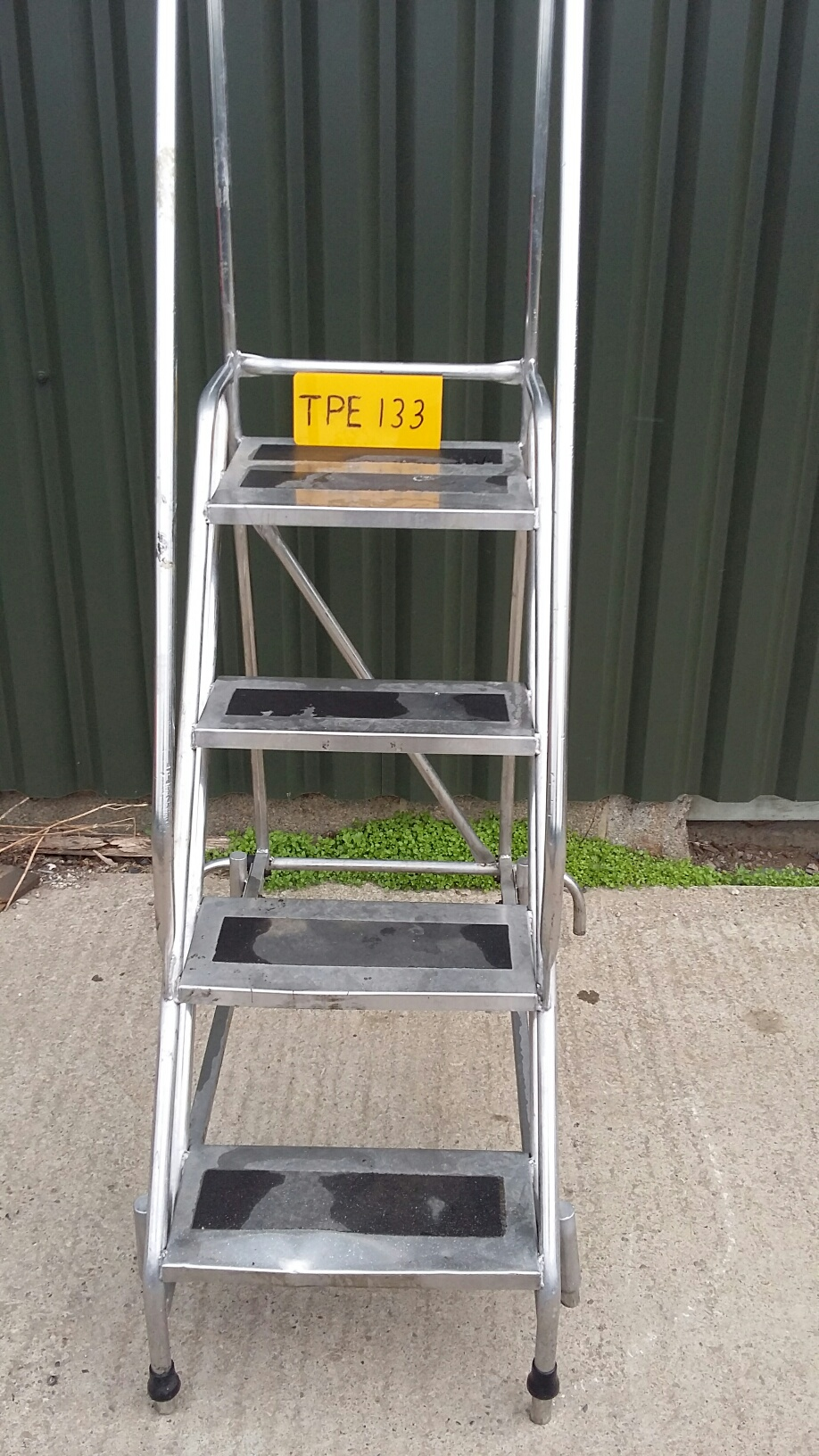 Stainless Steel Four Tread Mobile Staircase, With Safety Handles, Serial  No. Unknown, Plant No. N/a, Year Of Manufacture Unknown, Dimensions Approx.