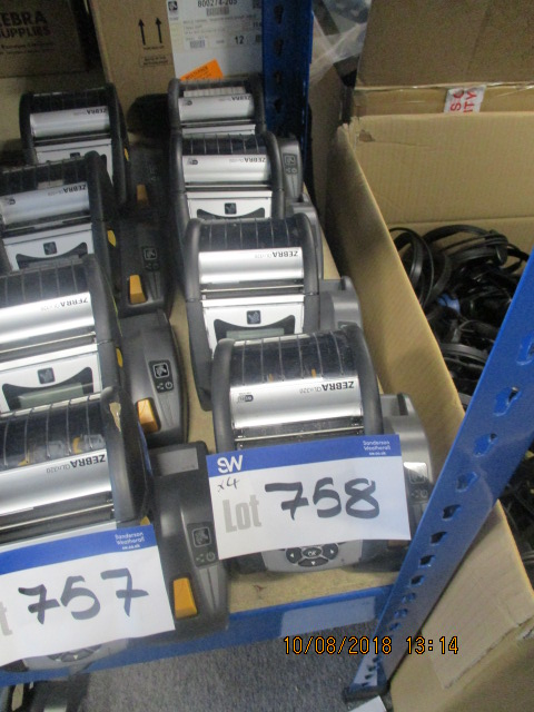 Lot: 758 - 4 X Zebra Qln320 Label Printers